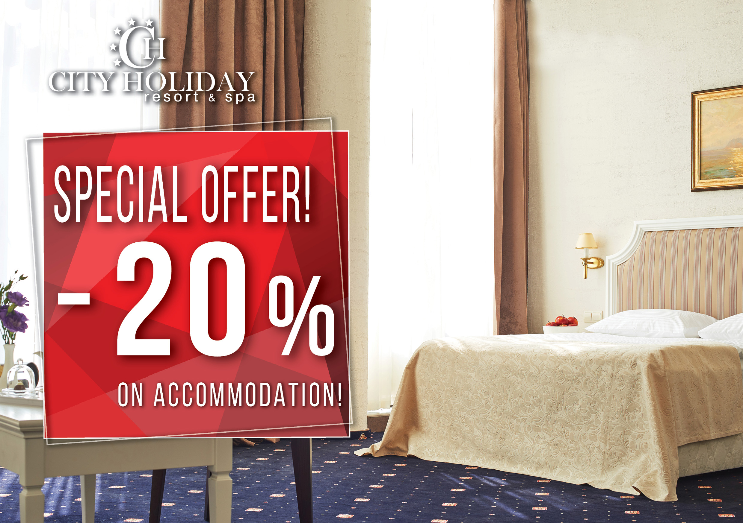 Sale on accomodation in hotel Kyiv -20%