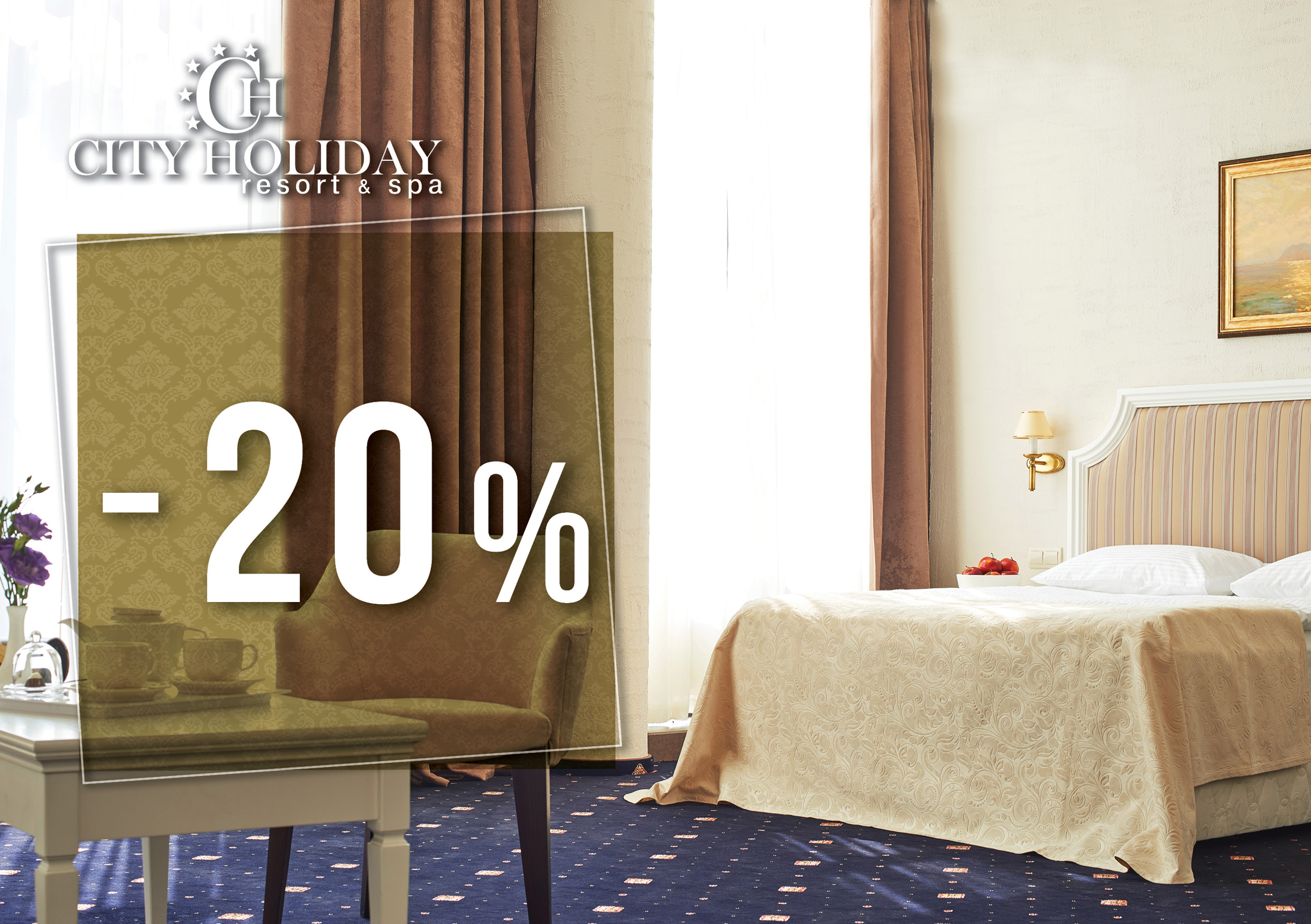 Special offer on accommodation in City Holiday Resort & SPA!